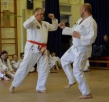 two members demonstrating attack and defence